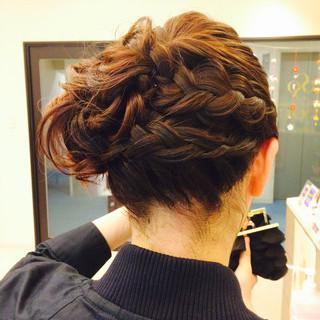 ショート 結婚式 パーティ 簡単ヘアアレンジ ヘアスタイルや髪型の写真・画像