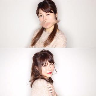 ヘアアレンジ ガーリー デート 簡単ヘアアレンジ ヘアスタイルや髪型の写真・画像