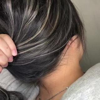 グラデーションカラー 外国人風カラー グレージュ アウトドア ヘアスタイルや髪型の写真・画像
