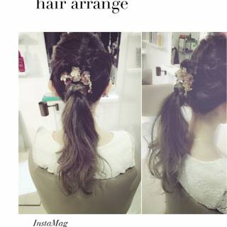 ヘアアレンジ ストリート ロング センターパート ヘアスタイルや髪型の写真・画像