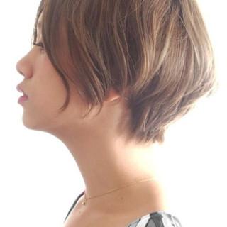 ショート 外国人風 ナチュラル ショートボブ ヘアスタイルや髪型の写真・画像