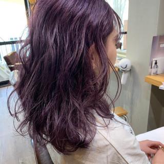ラベンダーピンク ラベンダーグレージュ ピンクアッシュ ストリート ヘアスタイルや髪型の写真・画像