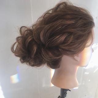 パーティ ロング ナチュラル 結婚式 ヘアスタイルや髪型の写真・画像