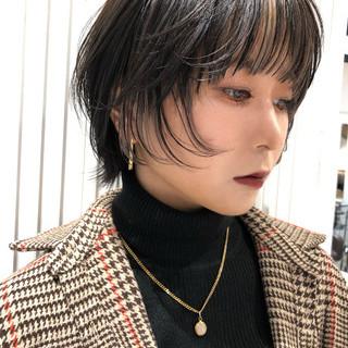 ショート インナーカラー ショートヘア ウルフカット ヘアスタイルや髪型の写真・画像