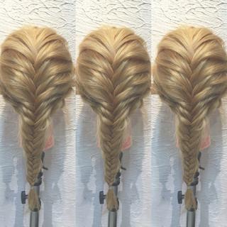 簡単ヘアアレンジ セミロング 夏 ヘアアレンジ ヘアスタイルや髪型の写真・画像