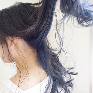 ナチュラル 外国人風カラー ロング グレージュ ヘアスタイルや髪型の写真・画像