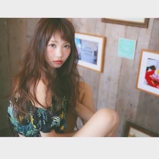 ロング ゆるふわ 外国人風 パンク ヘアスタイルや髪型の写真・画像