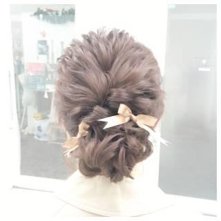 外国人風 大人かわいい パーティ セミロング ヘアスタイルや髪型の写真・画像