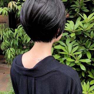 ショートマッシュ ショートボブ 大人ショート ナチュラル ヘアスタイルや髪型の写真・画像
