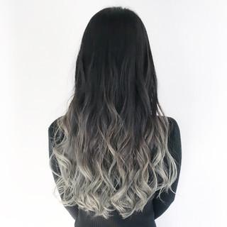 外国人風カラー イルミナカラー 黒髪 ロング ヘアスタイルや髪型の写真・画像 ヘアスタイルや髪型の写真・画像