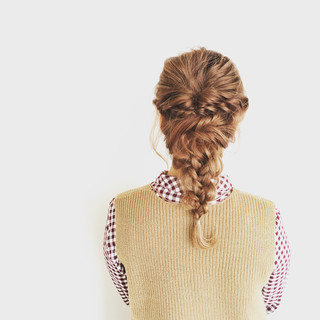 簡単ヘアアレンジ 夏 ヘアアレンジ セミロング ヘアスタイルや髪型の写真・画像 ヘアスタイルや髪型の写真・画像