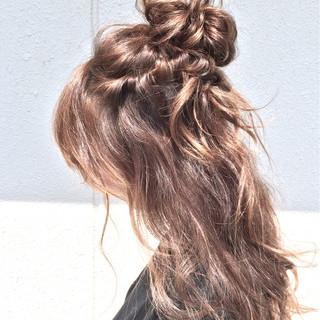 簡単ヘアアレンジ フェミニン ショート ロング ヘアスタイルや髪型の写真・画像