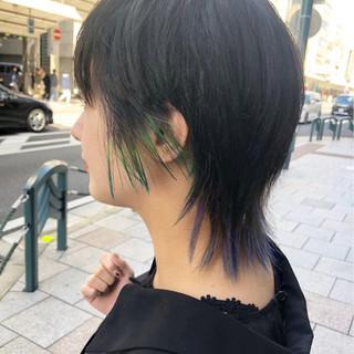 ストリート マッシュ 外ハネ ショート ヘアスタイルや髪型の写真・画像