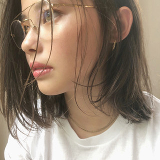 透明感 前髪あり ガーリー デート ヘアスタイルや髪型の写真・画像
