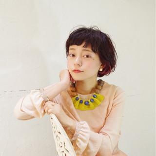 グラデーションカラー パーマ ナチュラル フェミニン ヘアスタイルや髪型の写真・画像