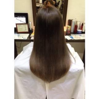 ナチュラル ロング グレージュ 外国人風 ヘアスタイルや髪型の写真・画像