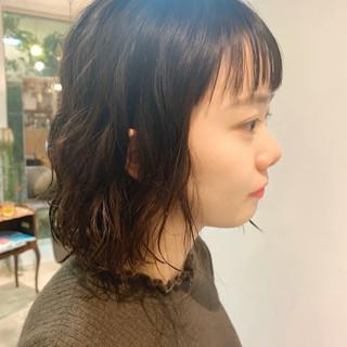 ヘアアレンジ ボブヘアー モテボブ 切りっぱなしボブ ヘアスタイルや髪型の写真・画像