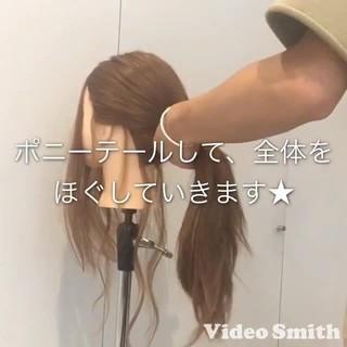 三つ編み セルフヘアアレンジ ロング ナチュラル ヘアスタイルや髪型の写真・画像