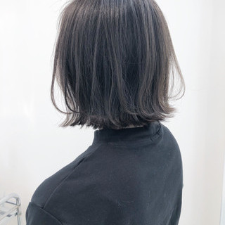 ヘアアレンジ ボブ 切りっぱなしボブ ナチュラル ヘアスタイルや髪型の写真・画像