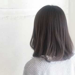 ミディアム ナチュラル 暗髪 冬 ヘアスタイルや髪型の写真・画像