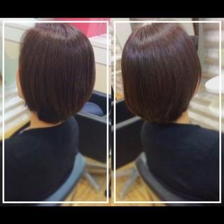 髪質改善トリートメント ナチュラル ボブ 髪質改善カラー ヘアスタイルや髪型の写真・画像