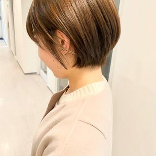 デート ナチュラル ショート ショートヘア ヘアスタイルや髪型の写真・画像