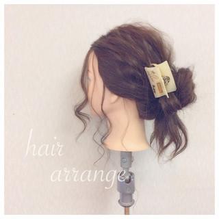 簡単ヘアアレンジ ショート 結婚式 セミロング ヘアスタイルや髪型の写真・画像