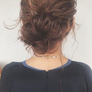 簡単ヘアアレンジ オフィス ヘアアレンジ ガーリー ヘアスタイルや髪型の写真・画像 ヘアスタイルや髪型の写真・画像