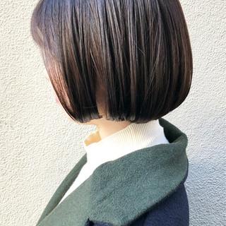 ボブ 切りっぱなしボブ 就活 大人女子 ヘアスタイルや髪型の写真・画像
