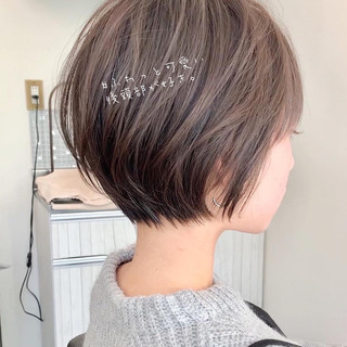 ゆるふわ ベリーショート ショートヘア アンニュイほつれヘア ヘアスタイルや髪型の写真・画像