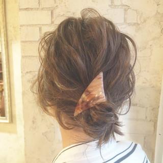 外国人風 ヘアアレンジ ショート ボブ ヘアスタイルや髪型の写真・画像