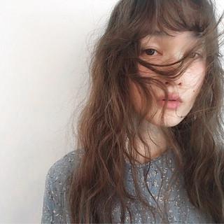 黒髪 オン眉 セミロング ロング ヘアスタイルや髪型の写真・画像 ヘアスタイルや髪型の写真・画像