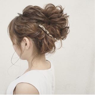 結婚式 ガーリー ナチュラル 大人かわいい ヘアスタイルや髪型の写真・画像
