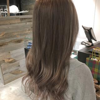 ロング フェミニン ストリート ハイライト ヘアスタイルや髪型の写真・画像