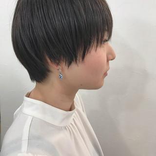 黒髪 ベリーショート ナチュラル マッシュショート ヘアスタイルや髪型の写真・画像 ヘアスタイルや髪型の写真・画像