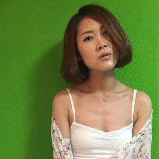 ワンレングス 抜け感 大人女子 ストリート ヘアスタイルや髪型の写真・画像