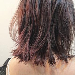 ボブ ラベンダー ラベンダーアッシュ 色気 ヘアスタイルや髪型の写真・画像