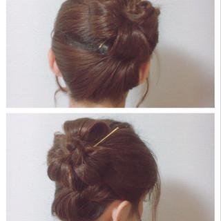 女子会 デート フェミニン 和装 ヘアスタイルや髪型の写真・画像
