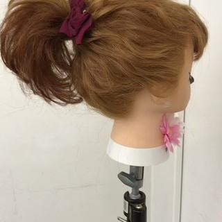 ヘアアレンジ フェミニン パーティ 結婚式 ヘアスタイルや髪型の写真・画像