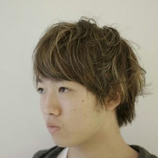 ショート ハイライト 外国人風 ボーイッシュ ヘアスタイルや髪型の写真・画像