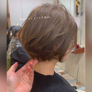ショートヘア 小顔ショート フェミニン ショート ヘアスタイルや髪型の写真・画像