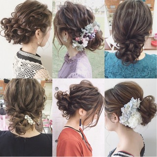 結婚式 ヘアアレンジ ナチュラル 大人かわいい ヘアスタイルや髪型の写真・画像