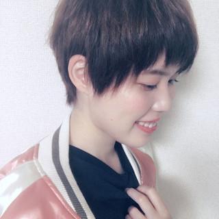 ピュア 簡単ヘアアレンジ ショート 大人かわいい ヘアスタイルや髪型の写真・画像