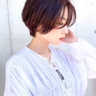 ショートヘア ショート 小顔ショート 大人ショート ヘアスタイルや髪型の写真・画像