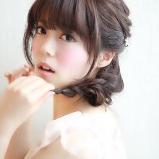 ロング 三つ編み ゆるふわ モテ髪 ヘアスタイルや髪型の写真・画像 ヘアスタイルや髪型の写真・画像