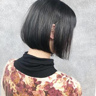 ナチュラル ボブ ミニボブ ストレート ヘアスタイルや髪型の写真・画像