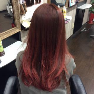ピンクカラー エレガント グラデーションカラー ダブルカラー ヘアスタイルや髪型の写真・画像