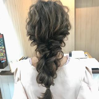 結婚式 波ウェーブ ロング ヘアアレンジ ヘアスタイルや髪型の写真・画像