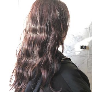 ミルクティーベージュ ピンクラベンダー グレージュ エレガント ヘアスタイルや髪型の写真・画像