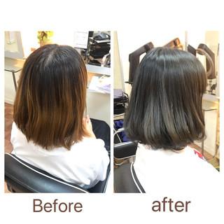 ダークトーン アッシュグレージュ フェミニン ブリーチオンカラー ヘアスタイルや髪型の写真・画像